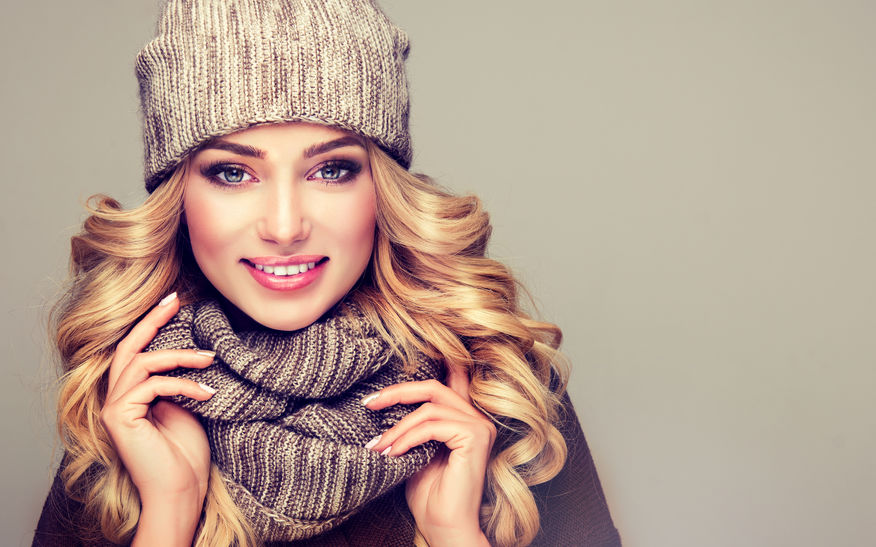 healthy winter hair