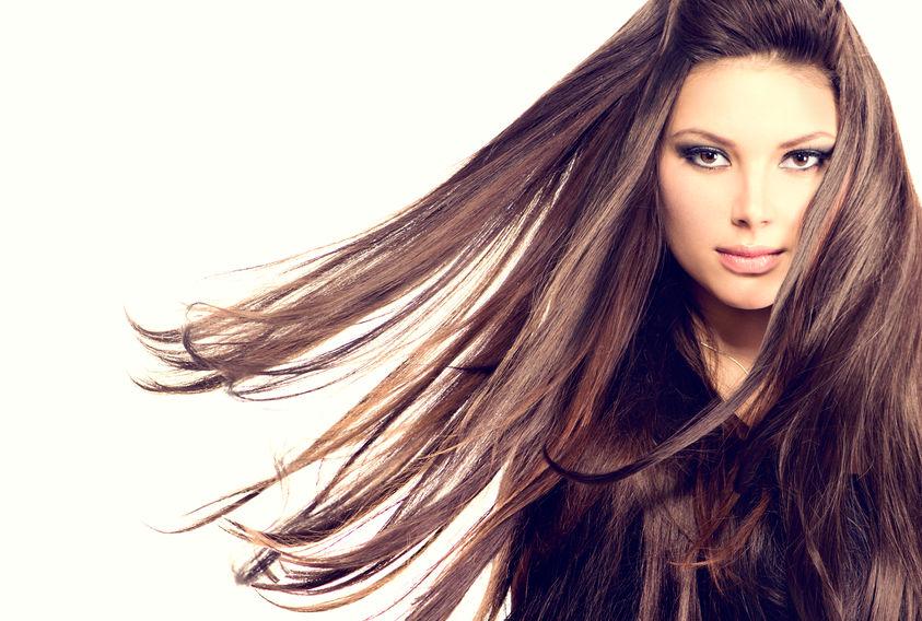 air drying hair