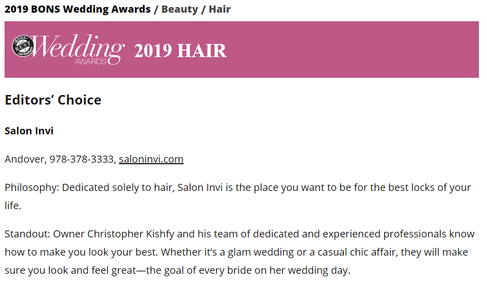 Hair Award